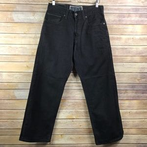 Levi's 569 Loose Straight Fit Black Jeans  (KG536)